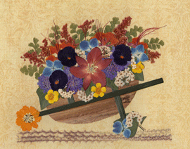 Floral Wheelbarrow